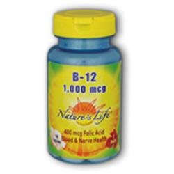Nature's Life Vitamin B-12 - 1000 mcg - 250 Tablets