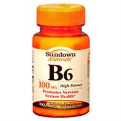 Sundown B-complex Vitamins Sundown Vitamin B-6 100 Mg Supplement Tablets, By Sundown - 100