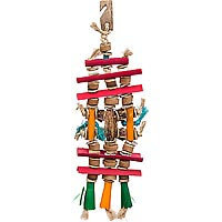 Planet Pleasures Bamboozlers Pagoda Bird Toy, Medium