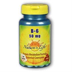 Nature's Life Vitamin B-6 - 50 mg - 100 Tablets
