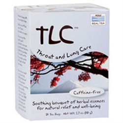 NOW Foods Real Tea TLC Throat and Lung Care - 24 Tea Bags