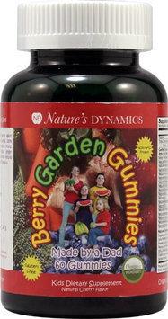 Natures Dynamics BGG 60ct Cherry Gummy Berry Garden Cherry Gummies, 60 Count - P