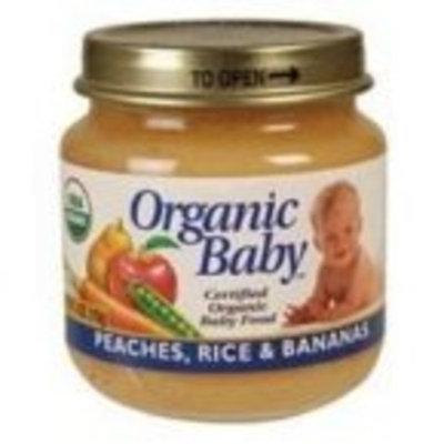 Ogranic Baby Organic Baby, Certified Organic Baby Food, Peaches, Rice & Bananas, 4 oz (113 g)