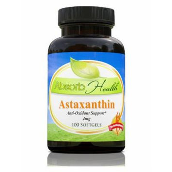 Astaxanthin , 100 Softgels 4mg , Powerful Antioxidant , Powerful Immune Booster