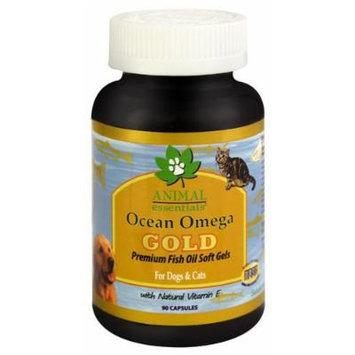 Animal Essentials Ocean Omega Gold Premium Fish Oil Soft Gels For Dogs & Cats -- 90 Capsules