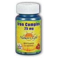 Nature's Life Iron Complex - 25 mg - 50 Vegetarian Capsules