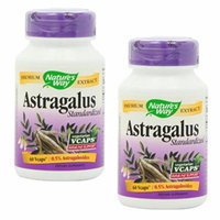 Pack of 2 Natures Way Astragalus Root, 60 Vcaps