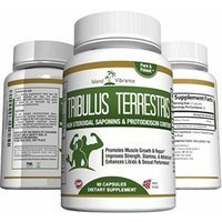 Pure Tribulus Terrestris Extract Powder Capsules: Over 1000mg for Optimum Results. For Women and Men. Testosterone Booster and Libido Enhancer. 90 Count, Full 45 Day Supply.