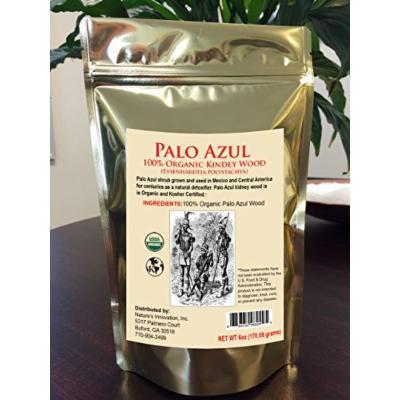 Palo Azul Kidney Wood Certified Organic Blue Stick Detox 6oz - TeaTox - Palo Azul Tea - Palo Dulce or Palo Santo wood - Eysenhardtia polystachya herb (6oz)