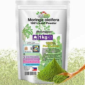1kg (2.2lbs), 100% Pure Moringa Oleifera Leaf Powder (Malunggay), (PHILIPPINES) - Free Shipping