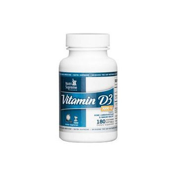 Nutri Supreme Research Vitamin D 3 3,000 iu 180 Vegetarian Softgel