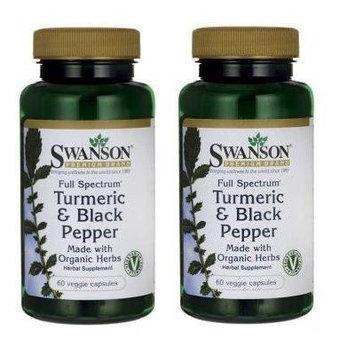 Swanson Premium Full Spectrum Turmeric & Black Pepper -- 2 Bottles each of 60 Veg Capsules