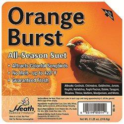 Heath Manufacturing Heath Outdoor Products Orange Burst Suet Cake - Case of 12