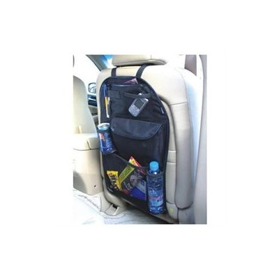 Zone Tech Car back Seat Organizer Storage Bag Multi-Pocket Black