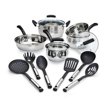 Tabletops Unlimited, Inc Essential Home 14 Piece Stainless Steel Cookware Set - TABLETOPS UNLIMITED, INC.