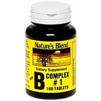 Nature's Blend Vitamin B Complex #1 Tablets 100 Count (2 Pack)
