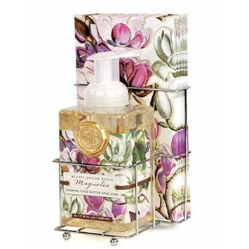 Magnolia Foaming Hand Soap & Paper Guest Towels Caddy Set Michel Design Works