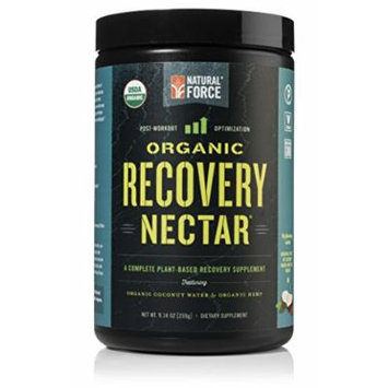 Natural Force® Recovery Nectar - ORGANIC Post Workout and VEGAN Recovery Drink - Certified Paleo Post Workout w/ Coconut Water and Hemp Protein, Non-GMO Recovery Accelerator, 9.14 oz.