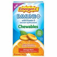 Emergen-C Immune+ with Vitamin D Chewables, Orange Blast 14 ea