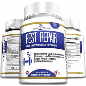 Post Workout Muscle Recovery Supplement - Best Potent BCAA Night Time Formula Supports Lean Muscle Growth and Repair, Enhances Energy, Endurance, and Strength Performance - 150 Capsules - Made in USA