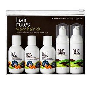 Hair Rules wavy hair travel kit