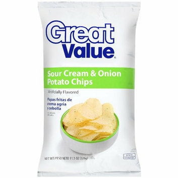 Great Value : Sour Cream & Onion Potato Chips
