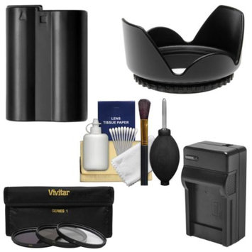 Vivitar Essentials Bundle for Nikon D7100 DSLR Camera & 18-140mm VR Lens with EN-EL15 Battery & Charger + 3 UV/CPL/ND8 Filter Kit