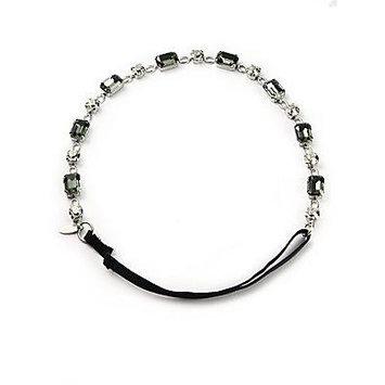 L. Erickson Kora Swarovski Crystal Headwrap - Silver-