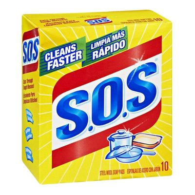 S.O.S Steel Wool Soap Pads - 10 CT