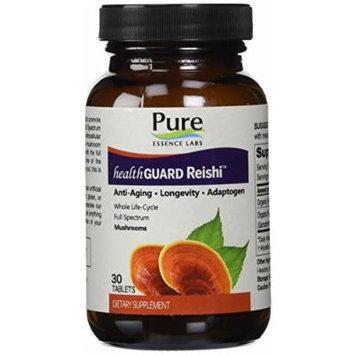 Pure Essence Labs HealthGuard Reishi - Anti-Aging - Longevity - Adaptogen - 30 Tablets