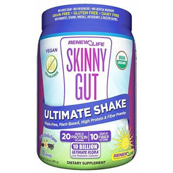ReNew Life - Skinny Gut Ultimate Shake Powder Canister Vanilla - 14.5 oz