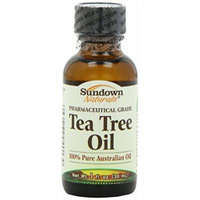 Sundown Naturals Tea Tree Oil, 1 Ounce Per Bottle (4 Bottles)