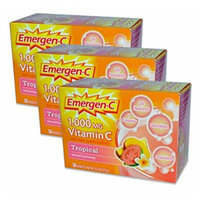 EmergenC, Tropical, 30 Packets (3 Pack)
