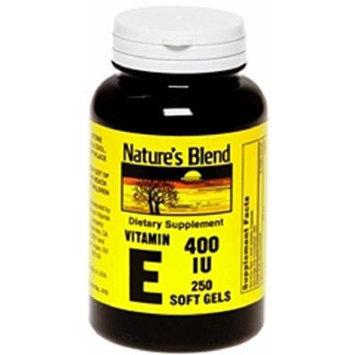 Nature's Blend Vitamin E 400Iu Gelcaps 250 Ct Pack of 2