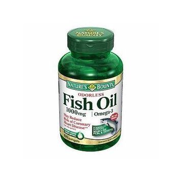 Nature's Bounty Odorless Fish Oil, 1000mg Omega-3, Softgels 100 ea