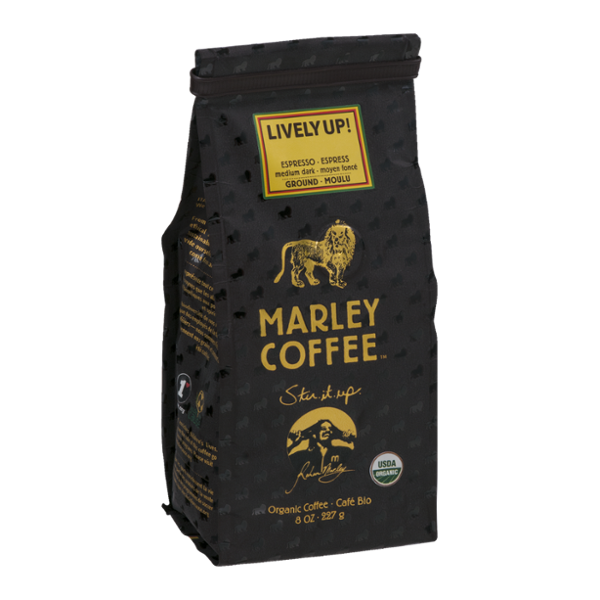 Marley Coffee Lively Up! Ground Coffee Medium Dark
