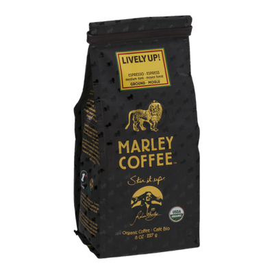 Marley Coffee Lively Up! Ground Coffee Medium Dark