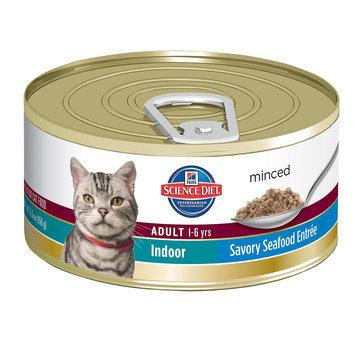 Hills Pet Nutrition Science Diet Indoor Savory Seafood Cat Food 5.5oz