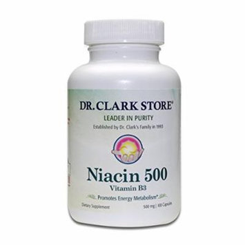 Dr. Clark Niacin 500 (Vitamin B3) Supplement, 500mg, 100 capsules