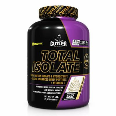 Cutler Nutrition Total Isolate Powder, Vanilla Cream, 4.1 Pound