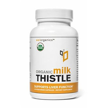 USDA Certified Organic Milk Thistle Extract 5:1 (Seed) (500mg Per Serving) (Vegetarian Capsules)