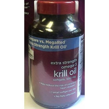 Member's Mark Extra Strength Omega-3 Krill Oil Softgels, 500mg (2 bottles (320 softgels))