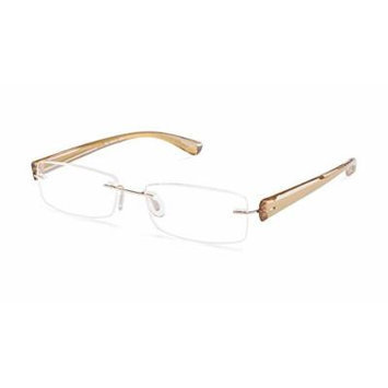 Scojo Gels Widelines Rimless Reading Glasses - Multiple Colors - Hard Coordinated Case Included (2.25, Gold)