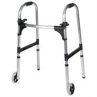 Drive Medical Light Weight Paddle Walker with Wheels, Adult, 1 ea