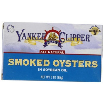 Yankee Clipper Oysters, Tiny Smoked, 3-Ounce (Pack of 12)