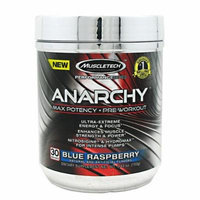 Anarchy Pre-Workout By MuscleTech, Blue Raspberry 30 Servings