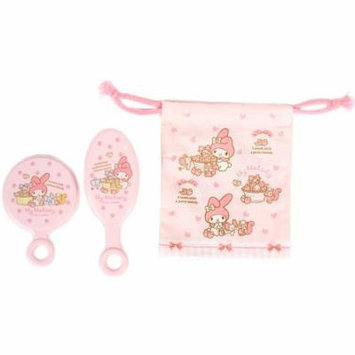 [My Melody]Mirror & brush & bag set Strawberry