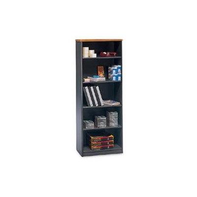 Bush OfficePro Bookcase, 5-Shelf, Natural Cherry