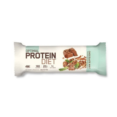 Optimum Nutrition Complete Protein Diet Bar, Chocolate Mint , Pack of 15