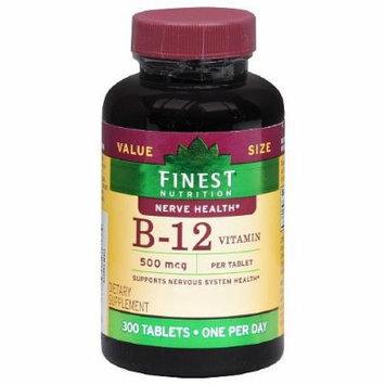 Finest Nutrition Vitamin B12 500mcg, Tablets 300 ea